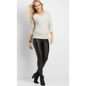 Maurices skinny high waist faux leather leggings L